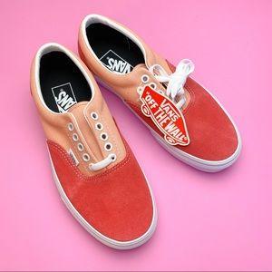 NWT- Pink & Red Vans. women's 8.0